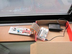 ラズベリーパイで作る光センサー検出システム
